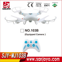 Outdoor&Indoor toys Headless Fly 4CH 2.4ghz 6-axis Gyro Rc Quadcopter Drone UFO RTF W/2mp camera SJY-MJ-103B