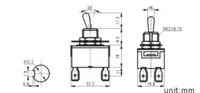 KN3(C)-201AP-1 toggle switch