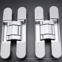 Große Arbeit 3D-Zink-Legierung einstellbare Türscharnier mit flexibler Installation