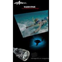 Linterna linterna led 100m submarino llevó linterna de buceo