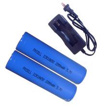Carregador de bateria recarregável do íon de lítio 18650