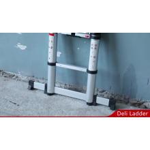 Escalera telescópica de aluminio súper de 3.8 m con sistema de cierre suave EN131-6 ANSI Warenwet AS / NZS CAN3-Z11-M81