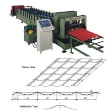 glazed tile metal panel roll forming machine