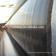 China direct factory top quality black erw steel pipe
