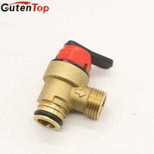 Gutentop CW617n MS58 Red Plastic Handle Válvulas de seguridad de presión de latón