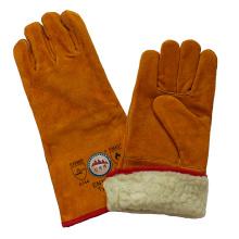 Boa guantes de cuero de cuero de vaca