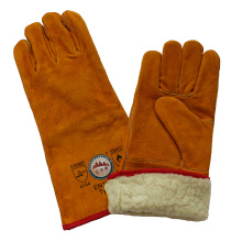 Boa Full Lining Cowhide Split Leather Winter Welding Gloves