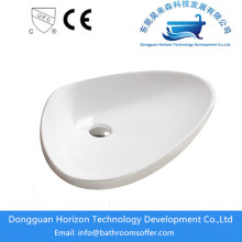 Oval countertop bathroom oval basins