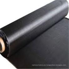 Fabricación The Weed Control Black Fabric Mantillo / Geotextil tejido para ferrocarril