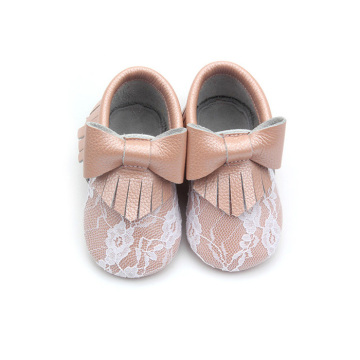 Mocasines de encaje Bowknot Wholesale Baby Shoes