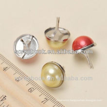 Decorative Pearl Brads for scrapbook home decoration' brads