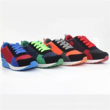 Zapatos de deporte para niños Zapatos de inyección para niños con toque mágico (snc-260023)