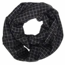 Forro de moda viscosa chequeado infinity bufanda