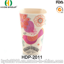 Copa de fibra de bambú biodegradable no frágil 400ml Eco (HDP-2011)