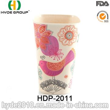 Copa de fibra de bambú biodegradable no frágil 400ml Eco (HDP-2011)