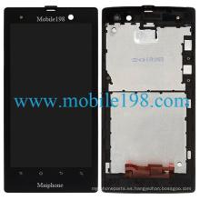 Pantalla LCD con digitalizador y carcasa frontal para Sony Xperia Lt28I