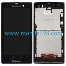 LCD Screen with Digitizer and Front Housing for Sony Xperia Lt28I