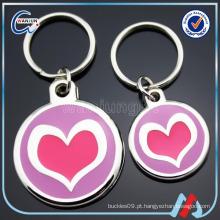 Logotipos promocionais do amor Tag do cão do metal da forma circular