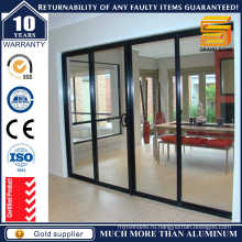 Внутренняя алюминиевая раздвижная стеклянная дверь
