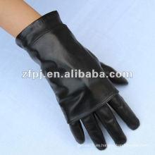 Fashion Lady Leather Guante con muchos métodos de desgaste