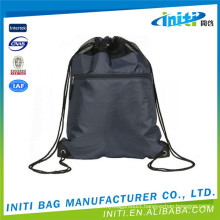 Wholesale hot product black leather drawstring bag