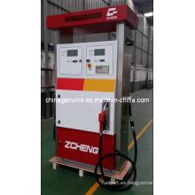 Dispensador de combustible con botón de parada de emergencia