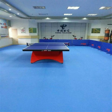 Melambai Corak Table Tennis Court Floor