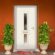 exterior de la puerta de madera maciza
