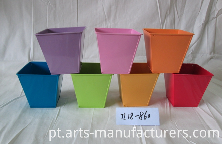 metal iron flower pot