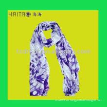 Nuevo mantón viscosa azul largo de la bufanda de la manera de Europa para el favor de la señora