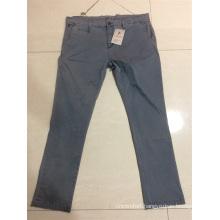 men's long casual pant garment dye