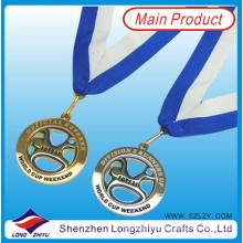 Portugal 3D Günstige Großhandel benutzerdefinierte Medaille vergoldet und Antik Silber