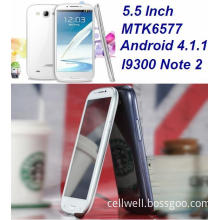 5.5inch 3G (WCDMA) +GSM Mtk6577 Capacitive Multi Touch Screen Android 4.1.1 Smart Mobile Phone
