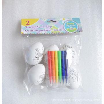 kids DIY easter jumbo plastic painting eggs