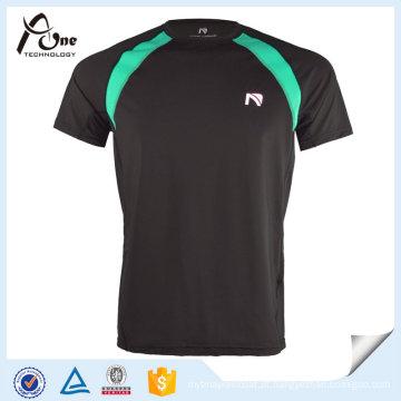 Camisa de nylon da aptidão T da roupa do poliéster dos homens