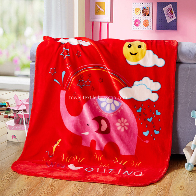 Coral Velvet Crib Blanket