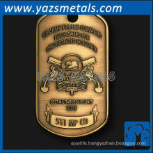 customizemetal dog tags, custom high quality eagle award dog tag