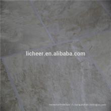 Plancher stratifié bon marché revêtement de sol stratifié facile à l'intérieur EIR et revêtement de sol en matière plastique en marbre
