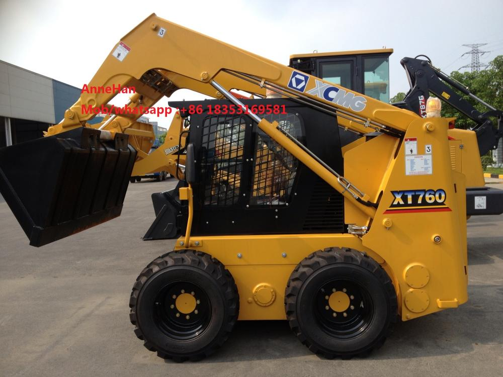 0,6m3 Xcmg Skid Steer Loader XT760