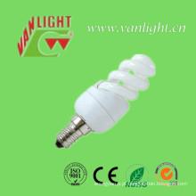 T2 Mini completo espiral 9W CFL, lâmpada de poupança de energia