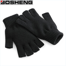 Warm Knitted Fingerless Gloves, Thick Half Gloves