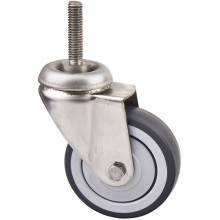 Threaded Stem Light Duty Caster, Stainless Steel Shopping Carts Caster