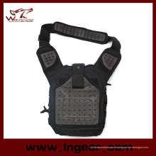 Neue Ankunft taktische Ausrüstung Nylon Umhängetasche militärische Tasche Brotbeutel schwarz
