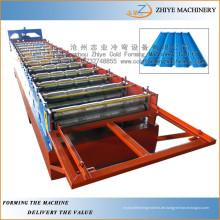 Aluminium-Dachziegel Wellpappe Walzen Maschine / Wandpaneele Kaltumformung Galvanisierung Produktionslinie