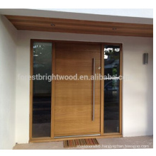 Contemporary Modern Style Exterior Solid Wooden Front Door Design