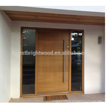 Design de porta frontal de madeira sólido exterior moderno estilo contemporâneo