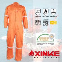 Vestuário permanente à prova de fogo em tecido de aramida