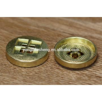 China, fábrica, suministro, prenda, accesorio, llano, metal, botón