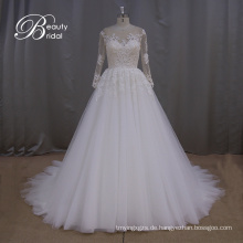 Verträumte Prinzessin Langarm Lace Wedding Dress