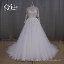 Robe de mariée dentelle rêveur manches longues de princesse